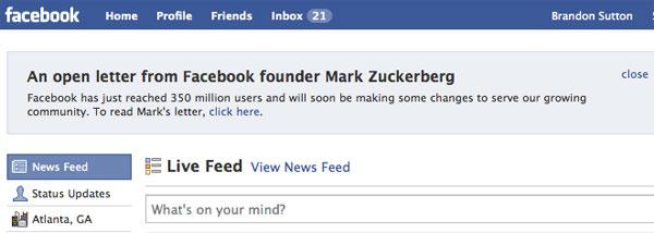 Facebook Open Letter