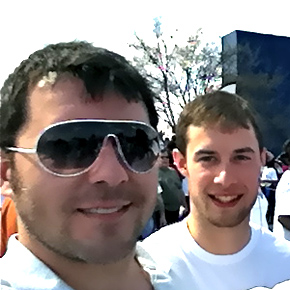 Brandon & Jeremy - Hunger Walk/Run 2011
