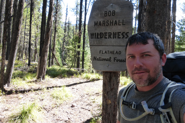 Crossing from the Great Bear Wilderness into the Bob Marshall Wilderness