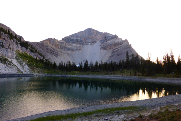 Dean Lake at sunset